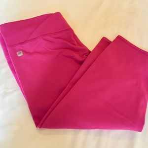 Fabletics fuchsia crop leggings